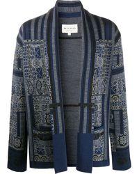 Etro Intarsia Knit Cardigan - Blue