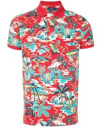 afdf80a561e9f Lyst - Polo Ralph Lauren Hawaiian Motif T-shirt in Green for Men