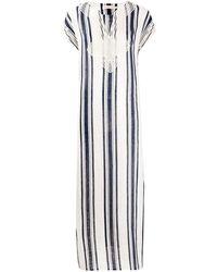 Tory Burch ストライプ ドレス - ホワイト