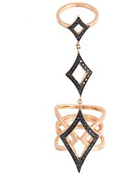 Anapsara 'oneness' Black Diamond Ring - Pink
