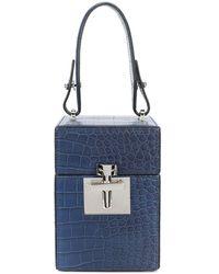 Oscar de la Renta Mini Alibi Top Handle Box Bag - Blue