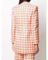 Loulou Houndstooth Tweed Blazer - Multicolor