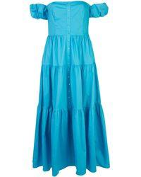 STAUD オフショルダー ドレス - ブルー
