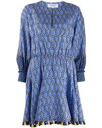 10 Crosby Derek Lam Floral Cassia ドレス - ブルー