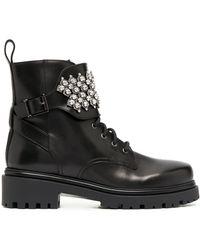 Rene Caovilla Embellished Ankle Boots - Black