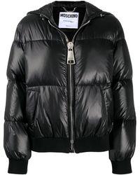 Moschino Куртка-пуховик С Логотипом - Черный