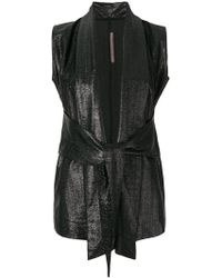 Rick Owens Lilies - Draped Front Gilet - Lyst