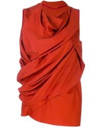 Rick Owens Блузка С Драпировкой - Красный