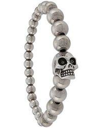 Alexander McQueen - Skull Beaded Bracelet - Lyst