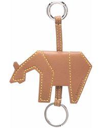 Zanellato Animal-shaped Leather Keyring - Natural