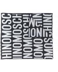 Moschino ロゴ スカーフ - ブラック