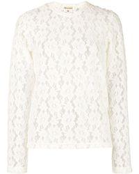 Comme des Garçons Floral Lace Two-piece Set - White