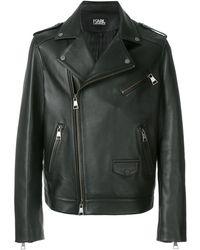 Karl Lagerfeld Classic Biker Jacket - Zwart