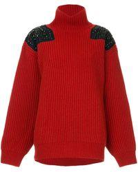 Kolor Stud Detailed Sweater - Red