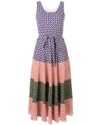 Duro Olowu Vestido estampado con colour block - Multicolor
