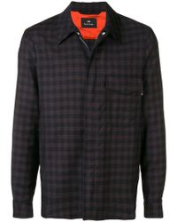 PS by Paul Smith - Check Pattern Shirt Jacket - Lyst