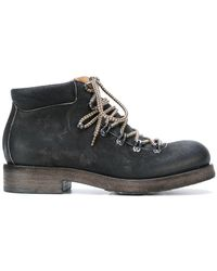 Roberto Del Carlo - Heavy Lace-up Boots - Lyst