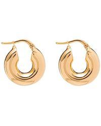 Jil Sander Mini Hoop Earrings - Metallic