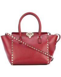 a4ca341d5c84c Valentino - Garavani Rockstud Small Double Handle Tote Bag - Lyst