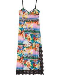 Gucci - Hawaiian Print Silk Dress - Lyst