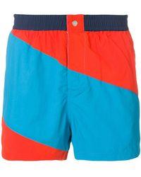 KENZO - Striped Swim Shorts - Lyst