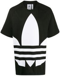 adidas Camiseta con logo estampado - Negro