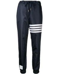 Thom Browne 4-Bar Flyweight Track Pants - Bleu