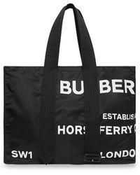 Burberry Sac cabas à imprimé Horseferry - Noir