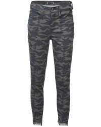 Nicole Miller - Camouflage Print Jeans - Lyst
