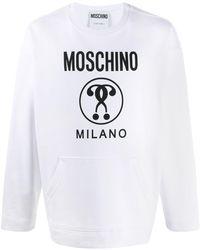 Moschino Sweater Met Dubbel Vraagteken - Wit