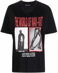 Kwaidan Editions フォトプリント Tシャツ - ブラック