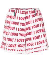 Blugirl Blumarine - Printed Short Shorts - Lyst