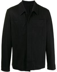 Harris Wharf London ウール シャツジャケット - ブラック