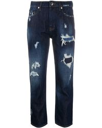 Love Moschino Jean crop classique - Bleu