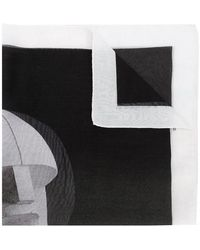 Rick Owens Drkshdw Logo Print Neck Scarf - Black