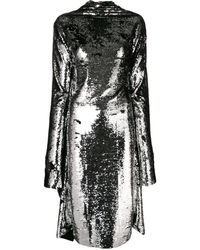 Paula Knorr Asymmetric Sequin Midi Dress - Metallic