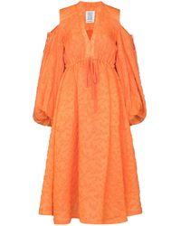 Rosie Assoulin オープンショルダー ドレス - オレンジ