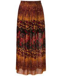À La Garçonne Bizet Pleated Midi Skirt - Multicolour