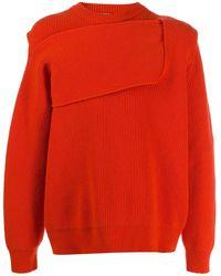 Bottega Veneta Intrecciato-style Rib-knit Sweater - Orange
