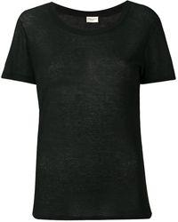 Saint Laurent リブジャージー Tシャツ - ブラック
