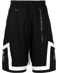 MASTERMIND WORLD Skull-embroidered Basketball Shorts - Black
