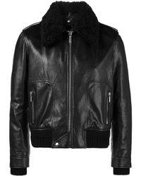 Saint Laurent Куртка С Воротником Из Овчины - Черный