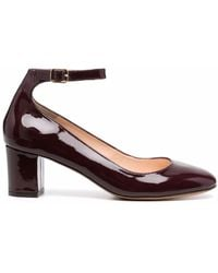 Tila March Neal Round-toe Leather Court Shoes - Brown