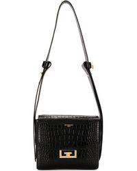 Givenchy Small Eden Embossed Croc Bag - Schwarz