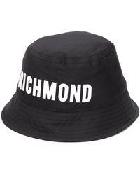 John Richmond ロゴ ハット - ブラック