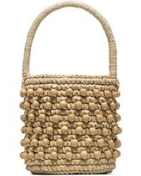 Sensi Studio Mini Woven Bucket Bag - Multicolour