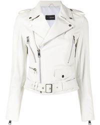 Manokhi Куртка С Карманами И Поясом - Белый