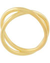 Eshvi Double Band Ring - Металлик