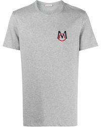 Moncler - Camiseta con parche del logo - Lyst