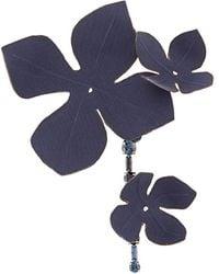 Marni Broche con motivo de flor - Azul